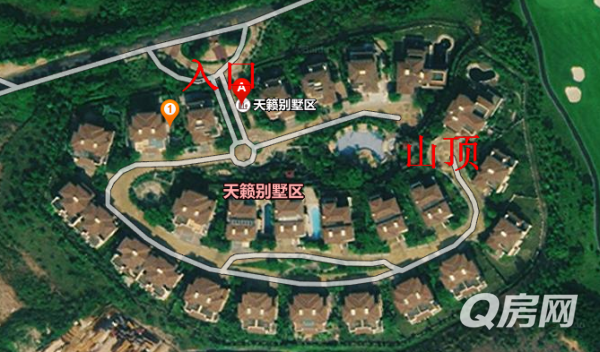 山顶独栋别墅带景观游泳池带十个停车位无敌私家酒店房干别墅图片